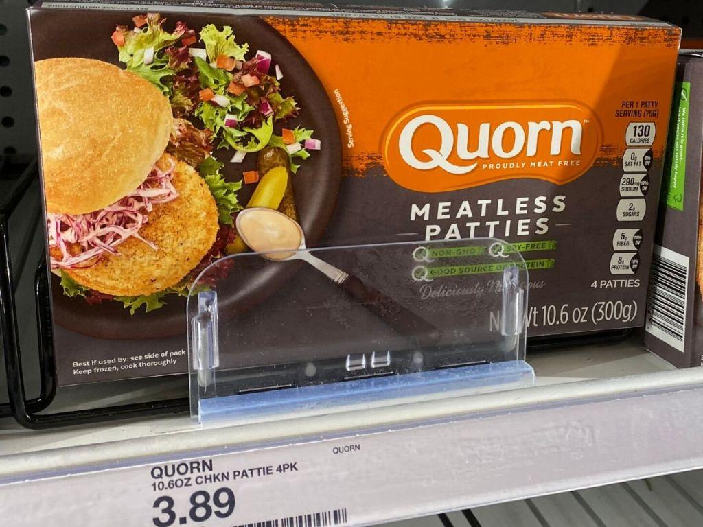 boxof meatless chicken patties