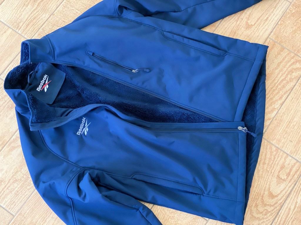 Reebok Men's Softshell Fur Lined Full-Zip Jacket