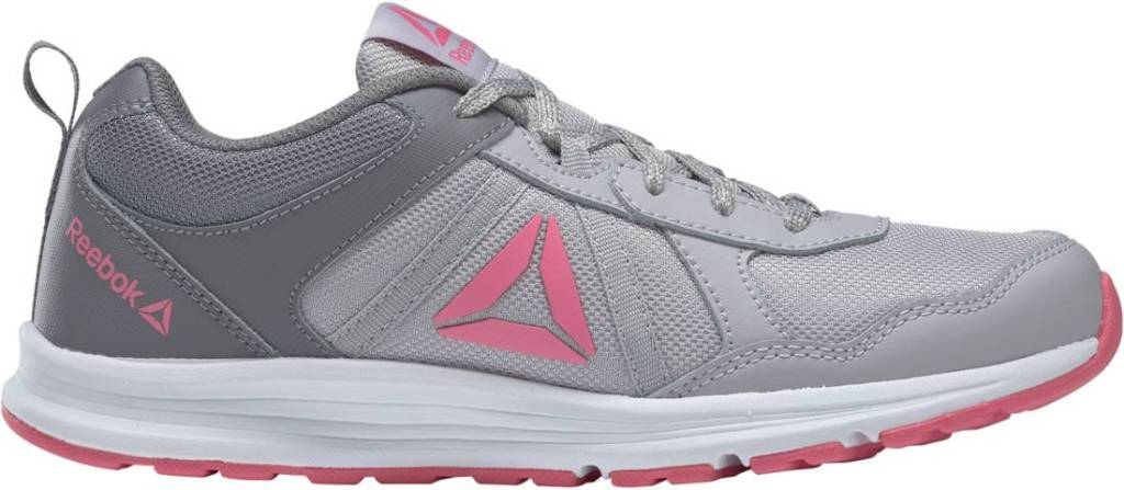 grey, pink and white sneakers