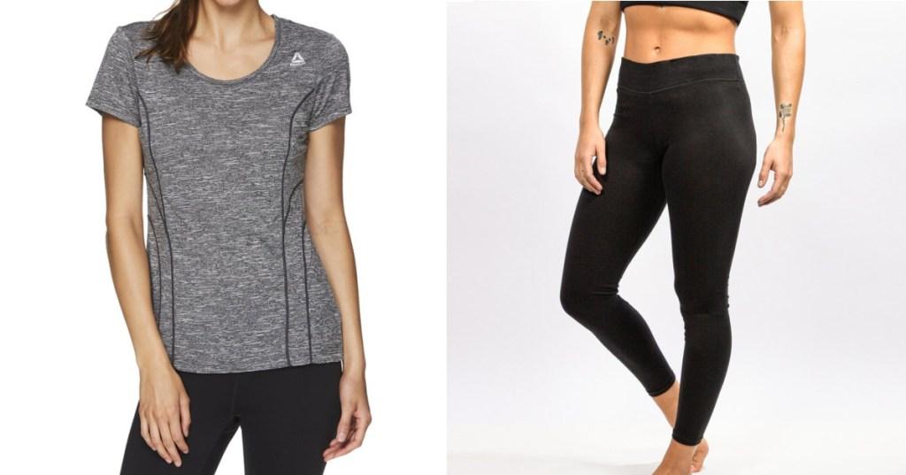 Reebok Women's T-shirt & Leggings Set