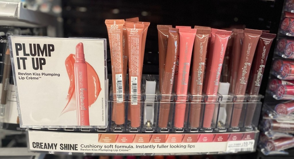 display of Revlon lip creme at CVS