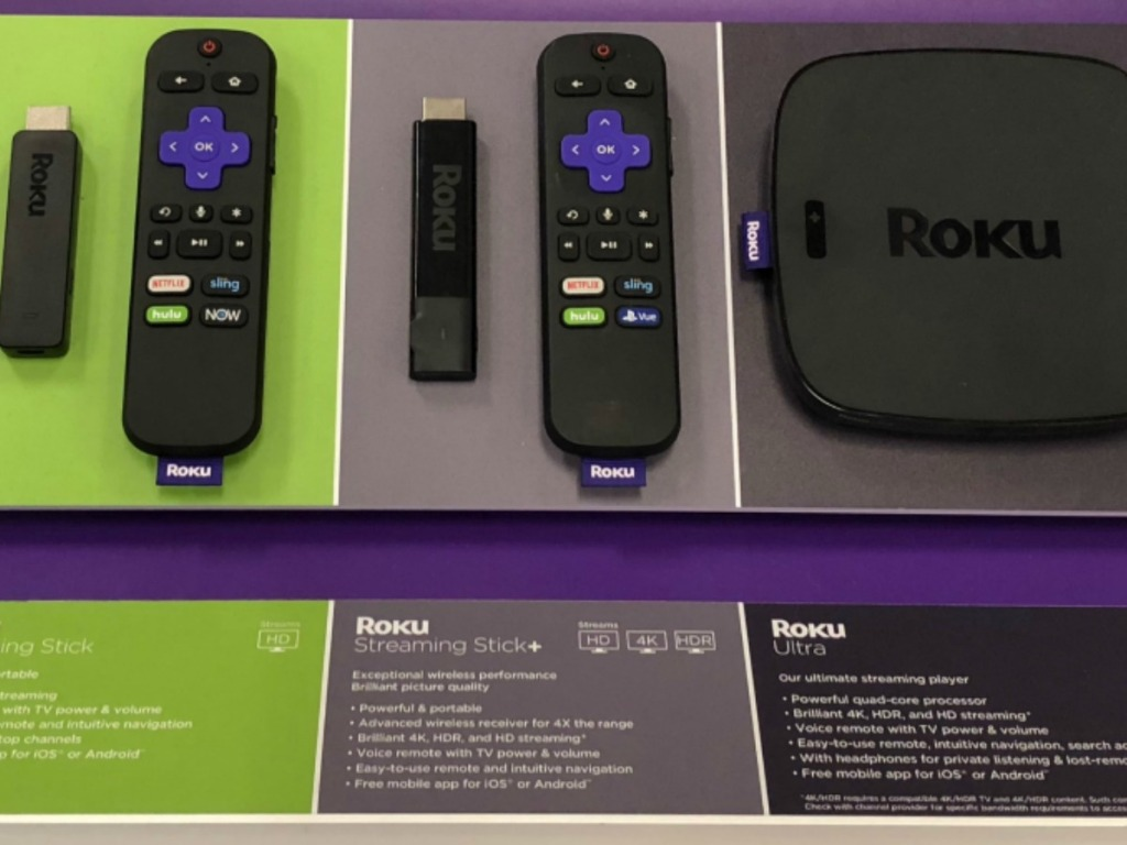 Roku Streaming Stick on display in-store