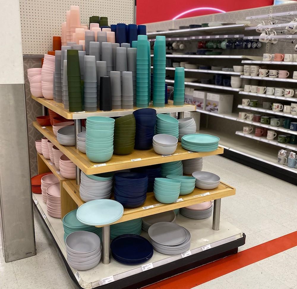 Room Essentials Dinnerware on Target endcap