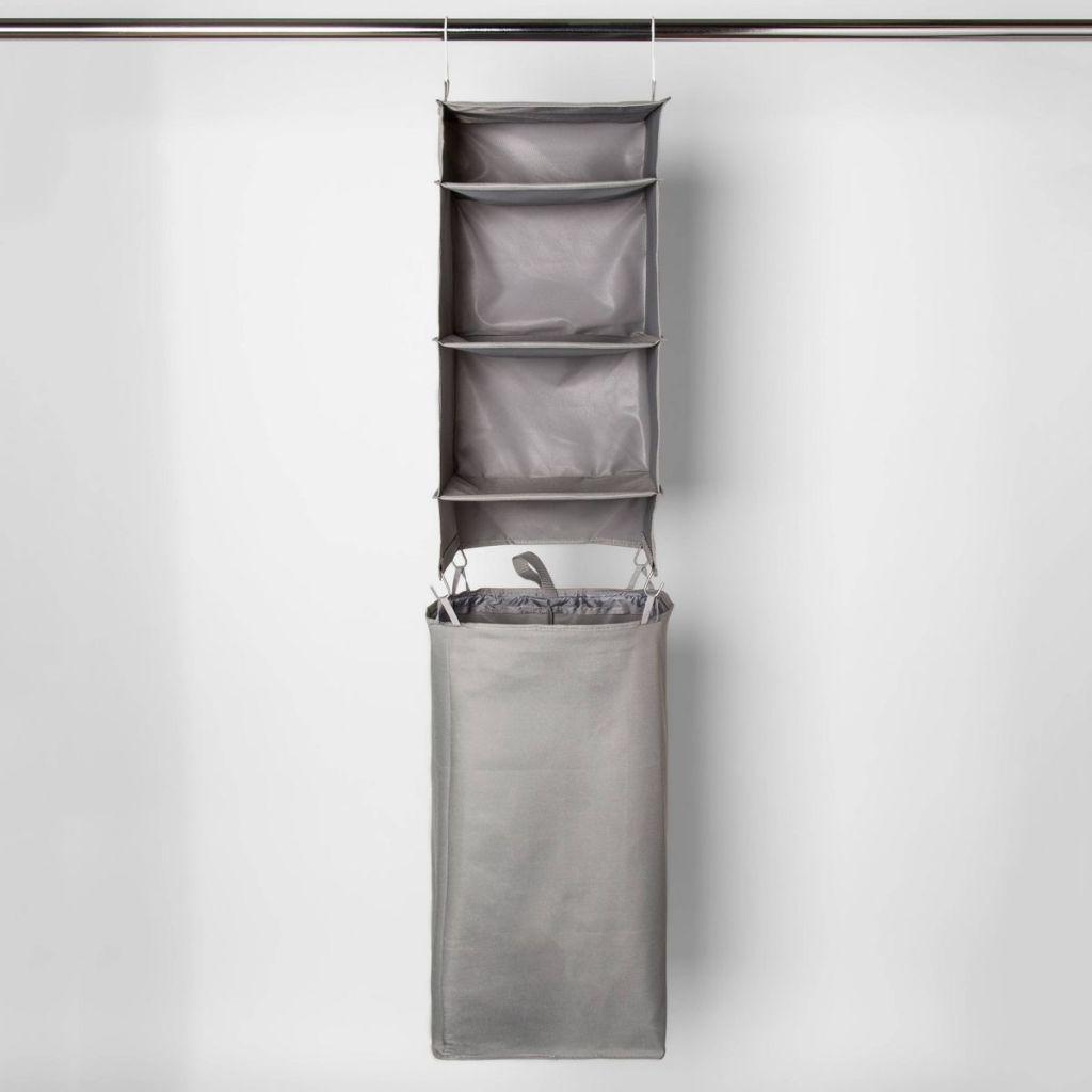 Room Essentials Hanging Closet Organizer in a closet