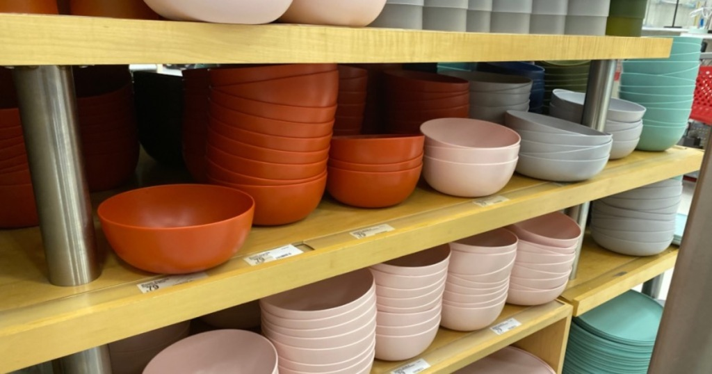 fall colored room essentials plastic bowls at target