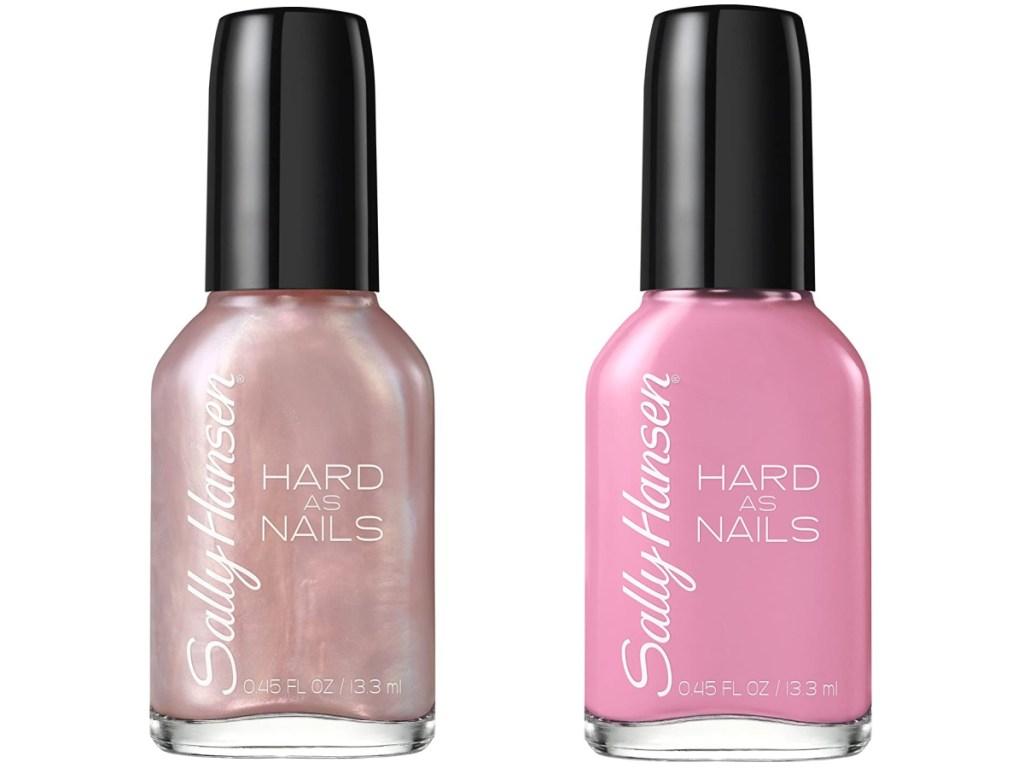 2 bottles of sally hansen nail enamel