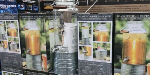 Glass Beverage Dispenser w/ Galvanized Stand Only $9.98 at Sam's Club