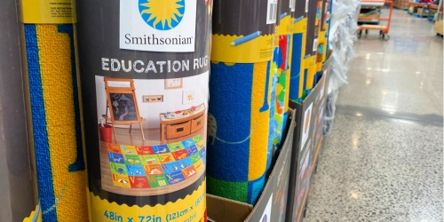 Smithsonian Educational Area Rugs Just $19.99 at Costco | Great for Classrooms