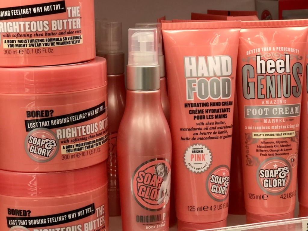 Soap & Glory Products on store shelf