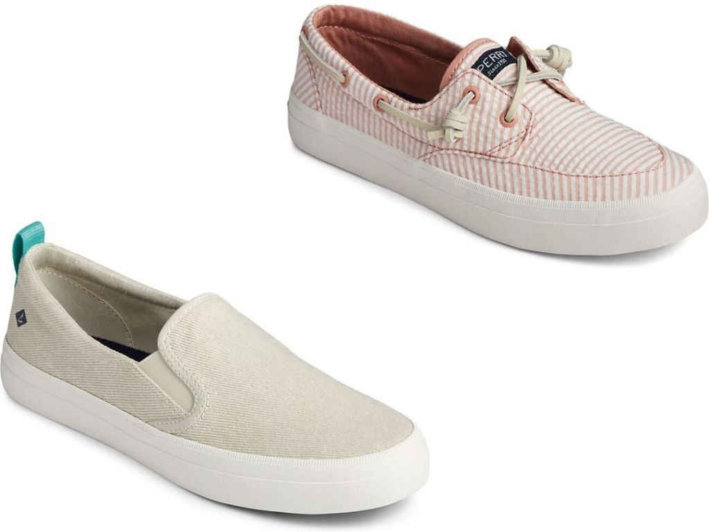 two right foot women's nautical sneakers