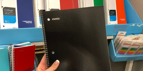 Staples Notebooks Just 25¢ Shipped | Hot Buys on School Supplies