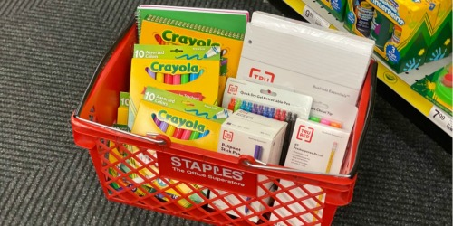 School Supplies from ONLY 25¢ Shipped on Staples.com
