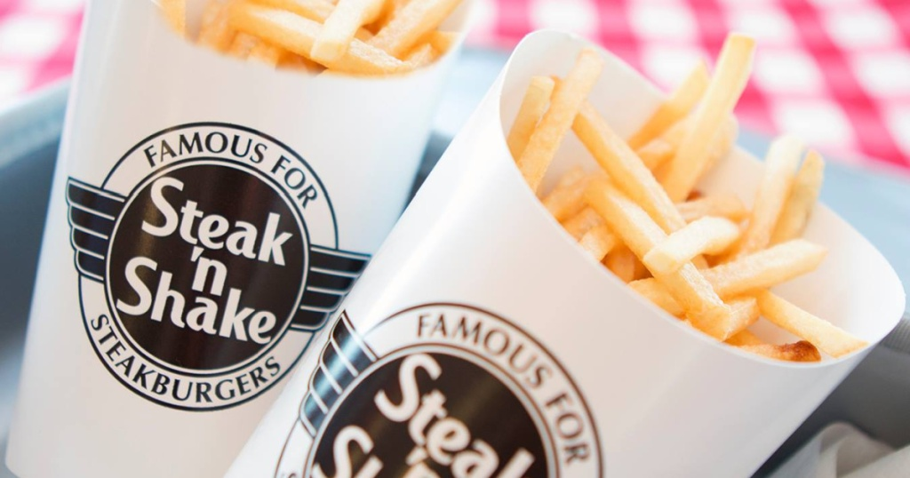 two boxes of steak and shake fries