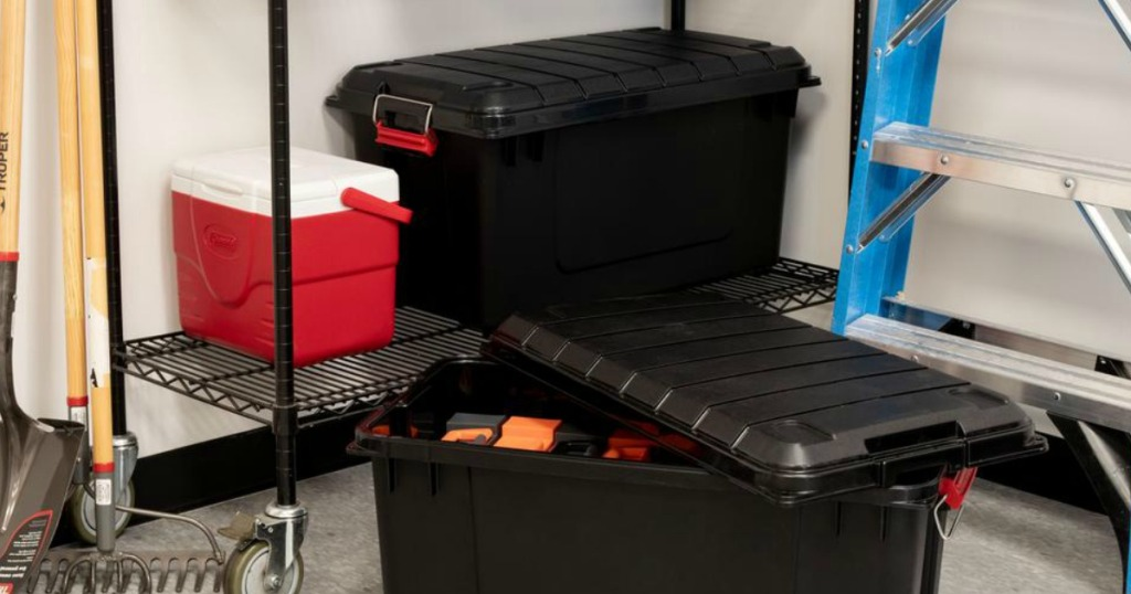 storage bins in garage