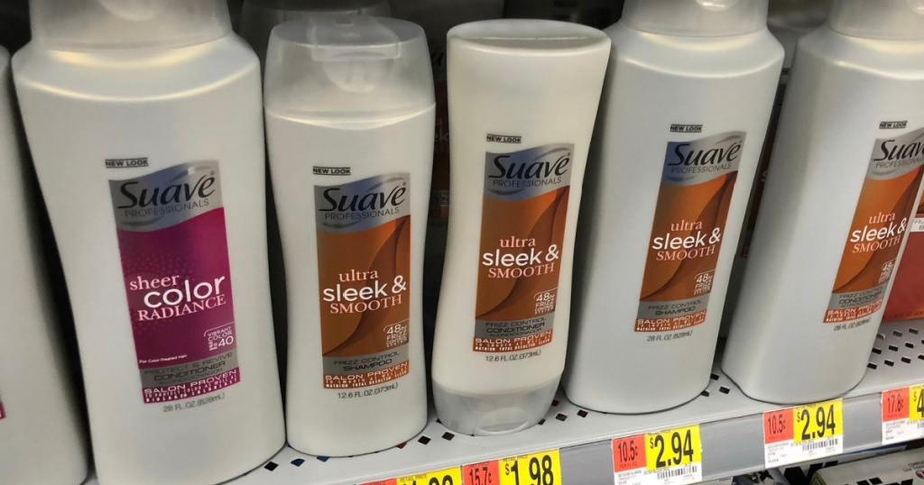 Suave Haircare Products on walmart store shelf
