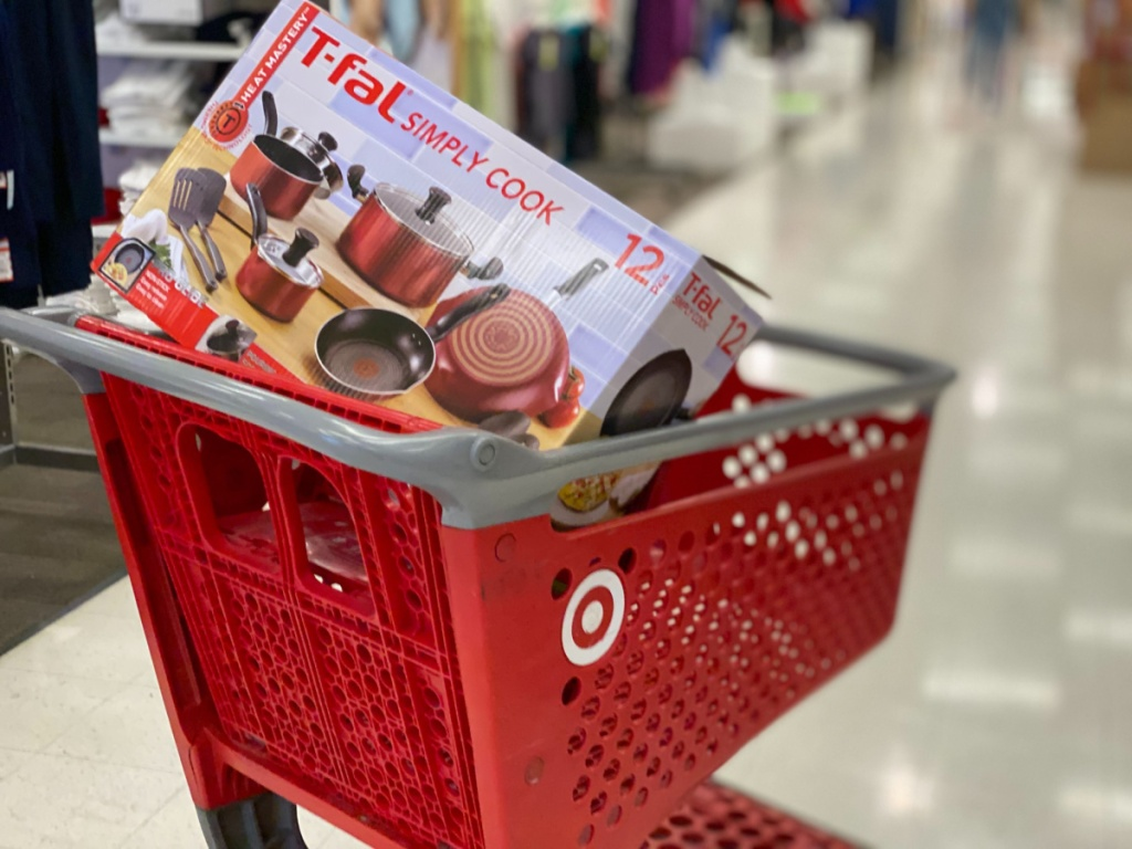 t-fal simply cook 12-piece set in target cart