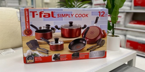 T-Fal Cookware 12-Piece Sets Just $39.99 Shipped on Target.com (Regularly $60)