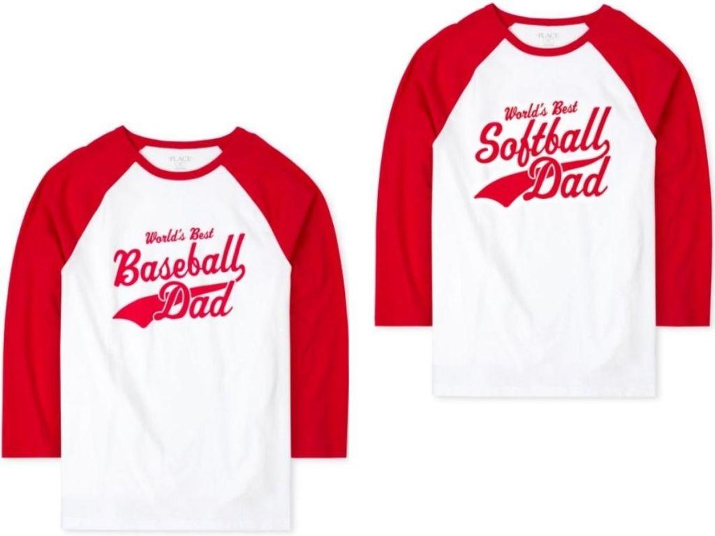two baseball ringer t-shirts
