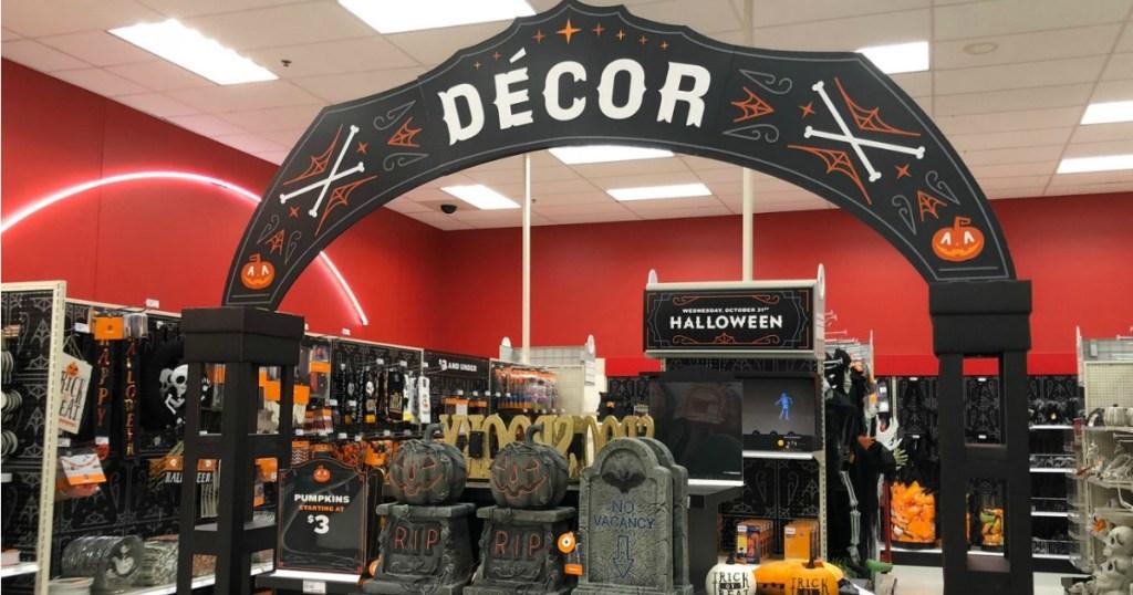 Target Halloween aisle