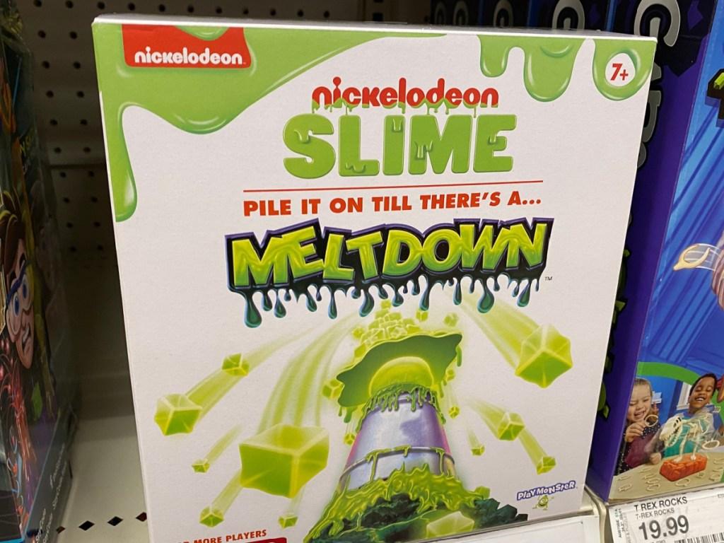 Nickelodeon Slime Melthdown Game sitting on store shelf