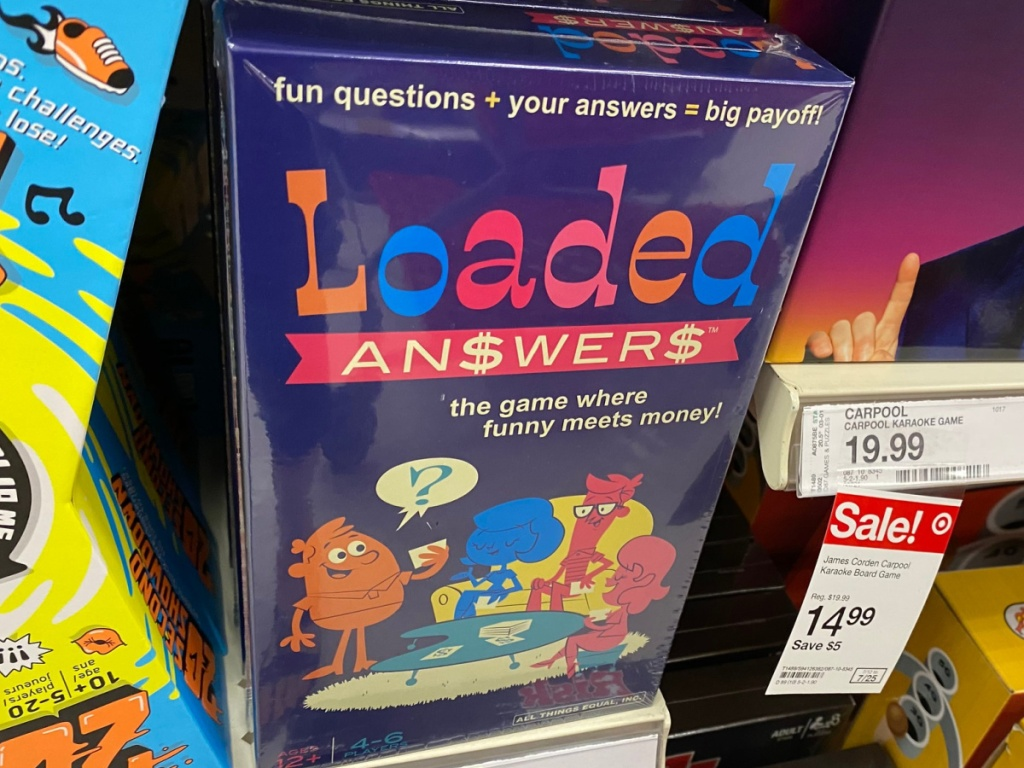 Loaded Answer Board Game sitting on store shelf