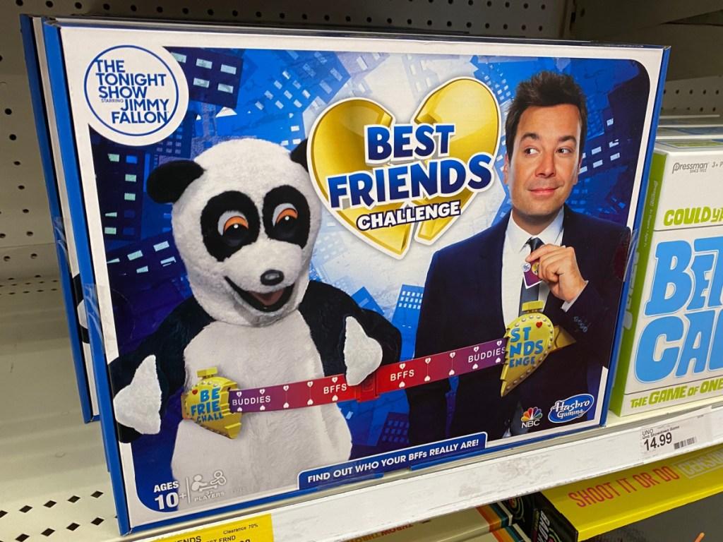 Tonight Show with Jimmy Fallon Best Friends Board Game on store shelf