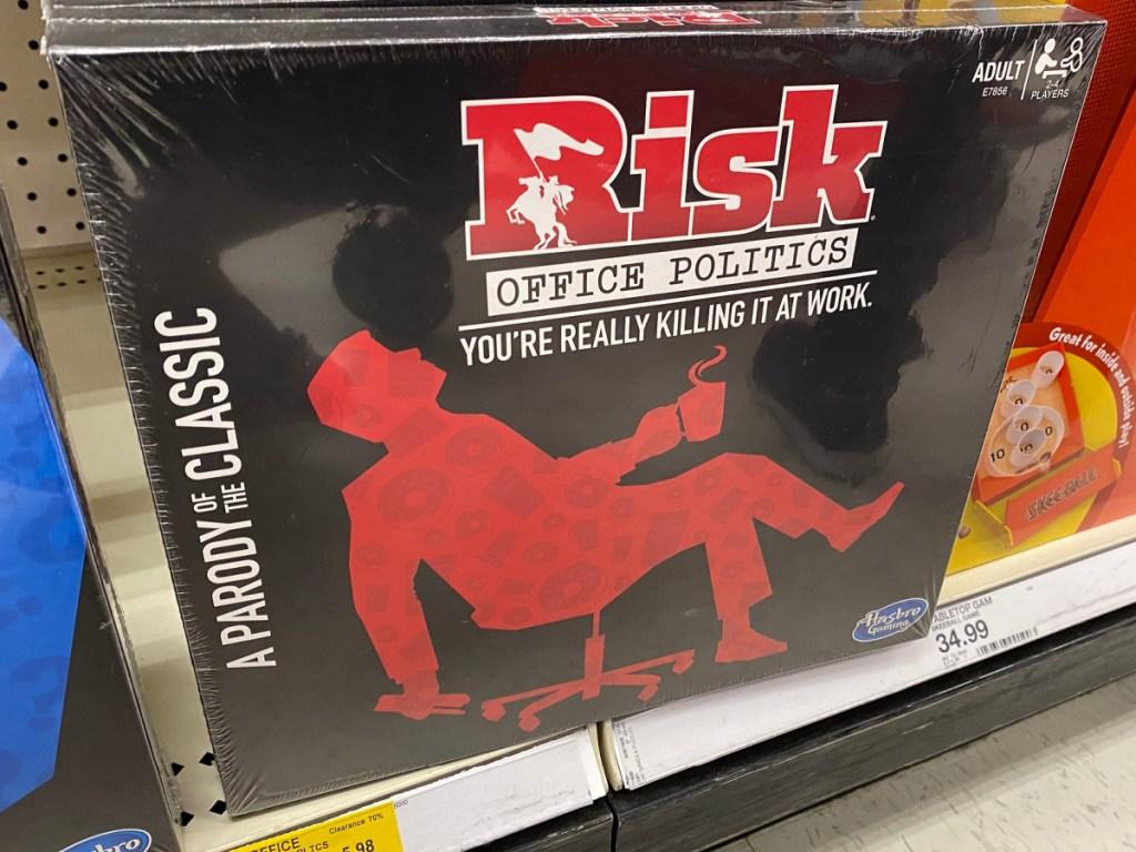 Risk Parody Board Game sitting on store shelf in target
