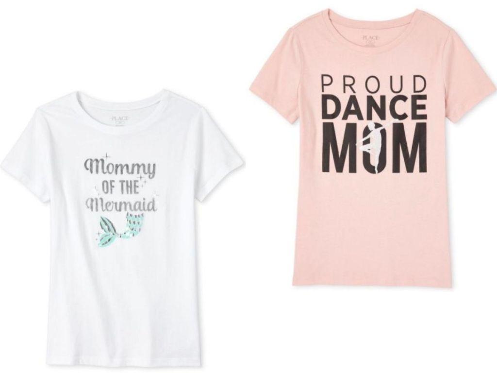 two women's t-shirts
