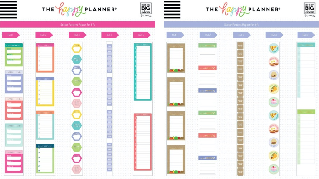two planning sticker sets