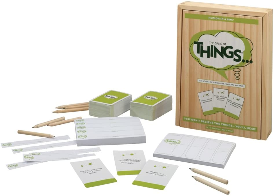 Things board game with contents showing