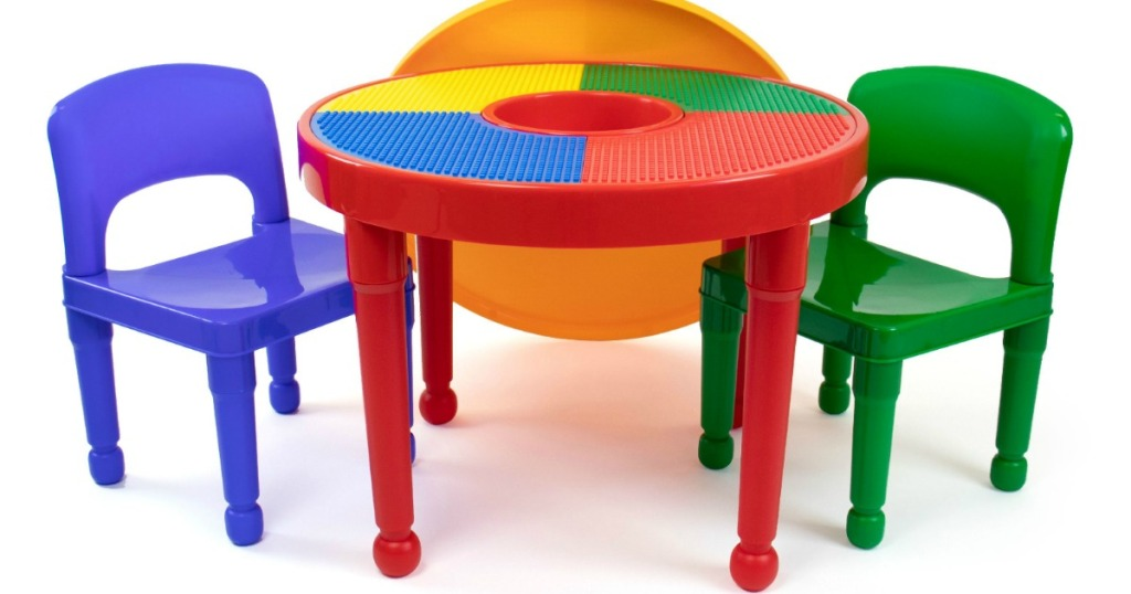 kids lego table and chairs set
