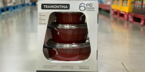 Tramontina 6-Piece Stackable Cookware Set Only $29.98 at Sam's Club