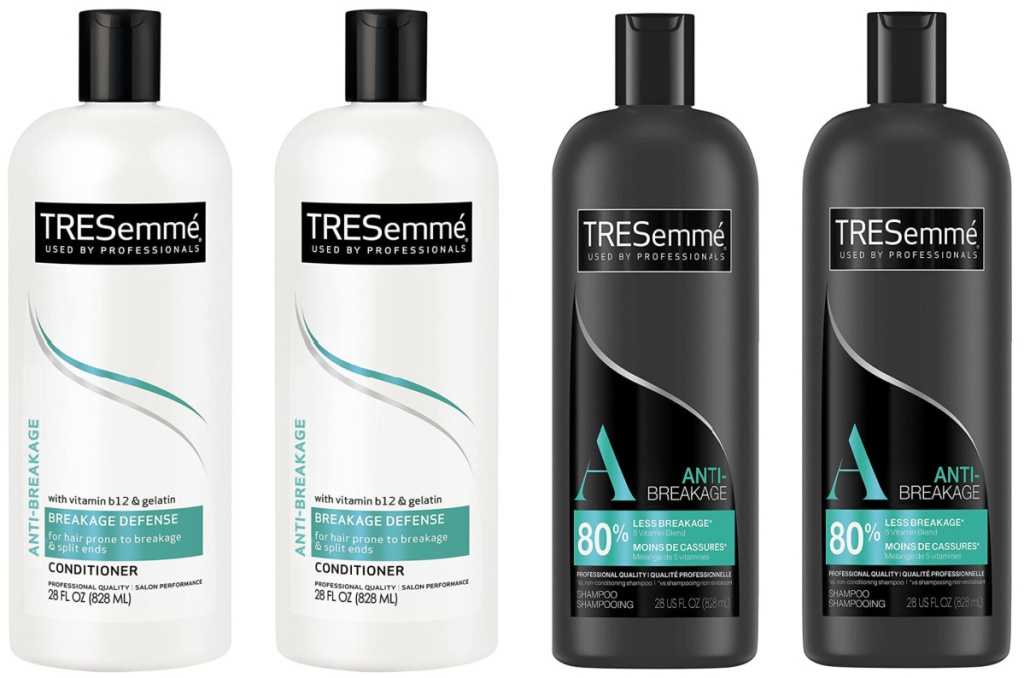 Tresemme Shampoo and Conditioner Bottles