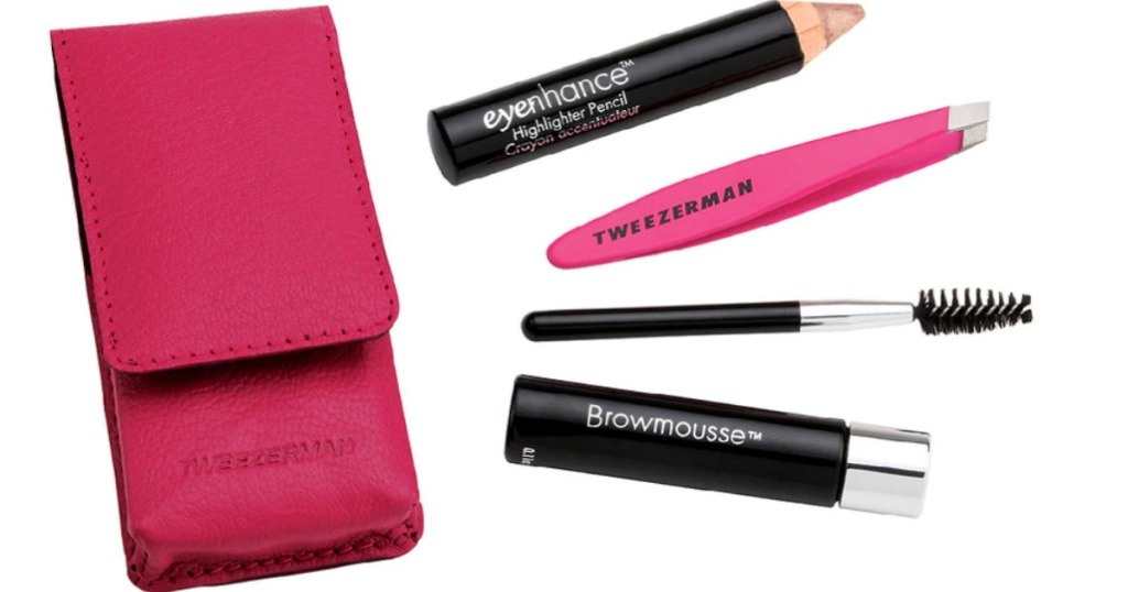 Tweezerman Eyebrow Kit with pencil, tweezers and brush