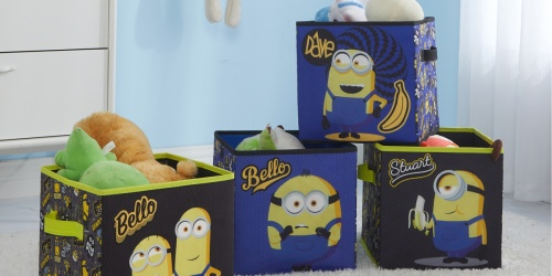 Minions Storage Cubes 4-Pack Only $14.98 on Walmart.com (Regularly $25)