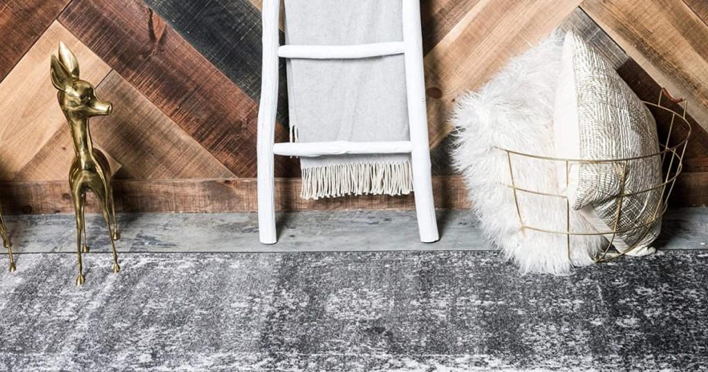unique loom sofia area rug dark grey runner