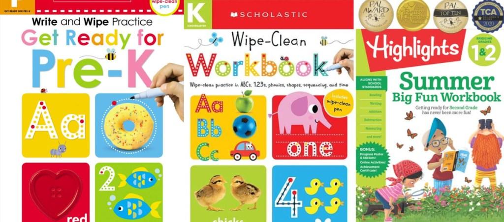 school workbooks wipe clean