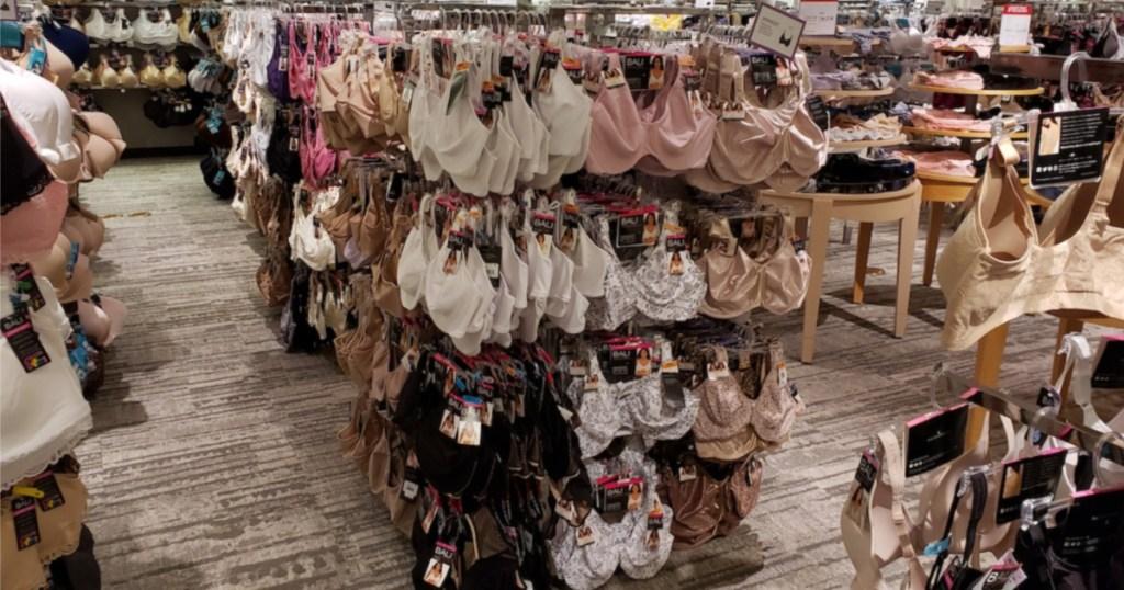 bras at macys on racks