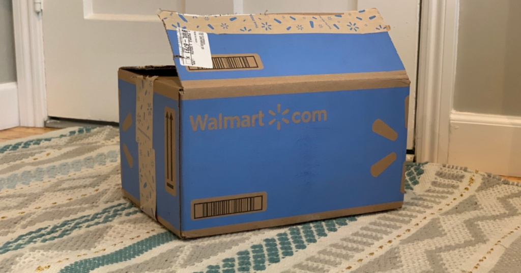 walmart box at door