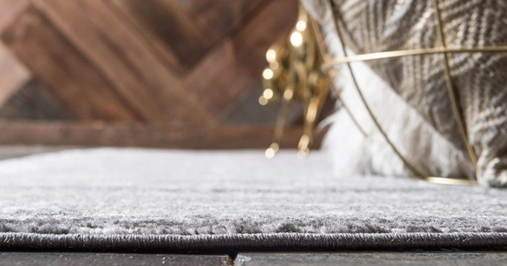 unique loom sofia runner dark grey on floor zoomed in