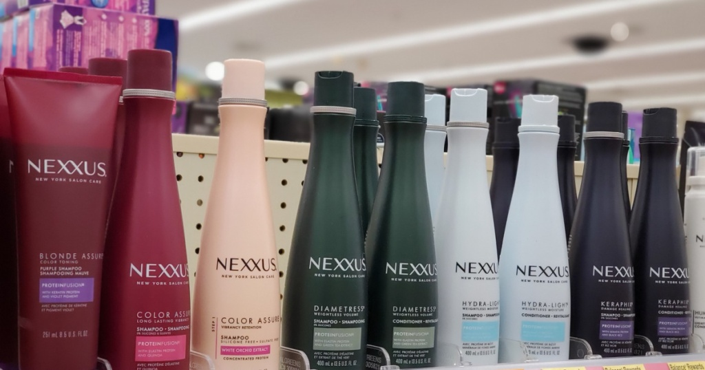 nexxus hair products at store on shelf