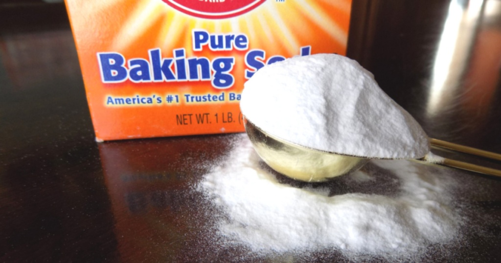arm & hammer baking soda with cup of baking soda