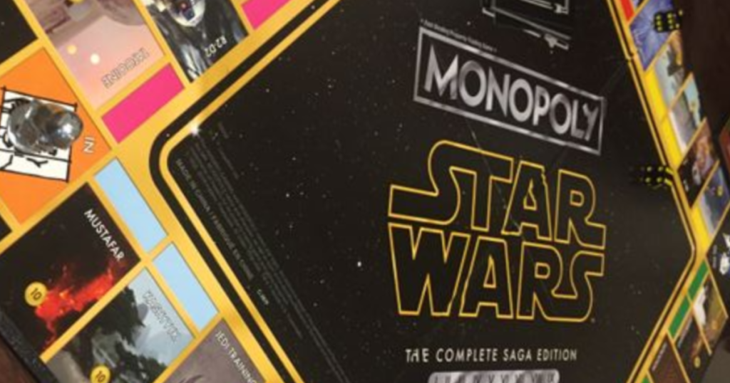 star wars complete saga monopoly game board only