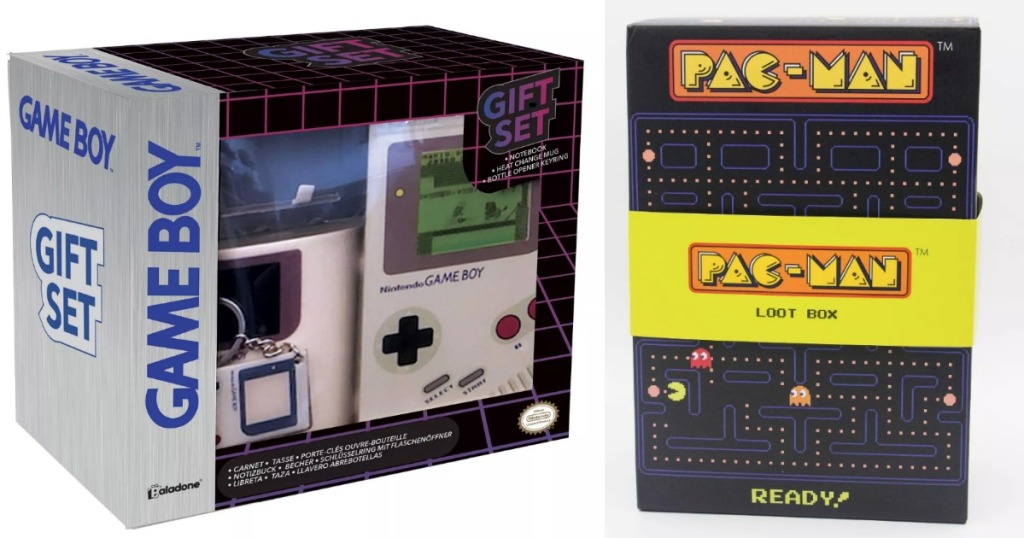Game Boy and Pac-Man Gift Boxes