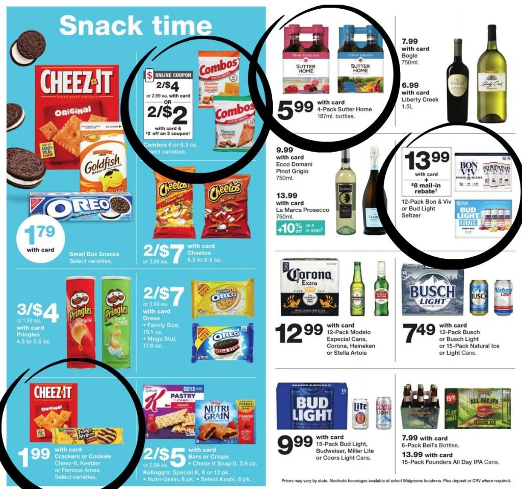 Walgreens Ad Scan best deals circled