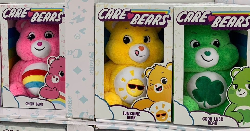care bears plush in boxes