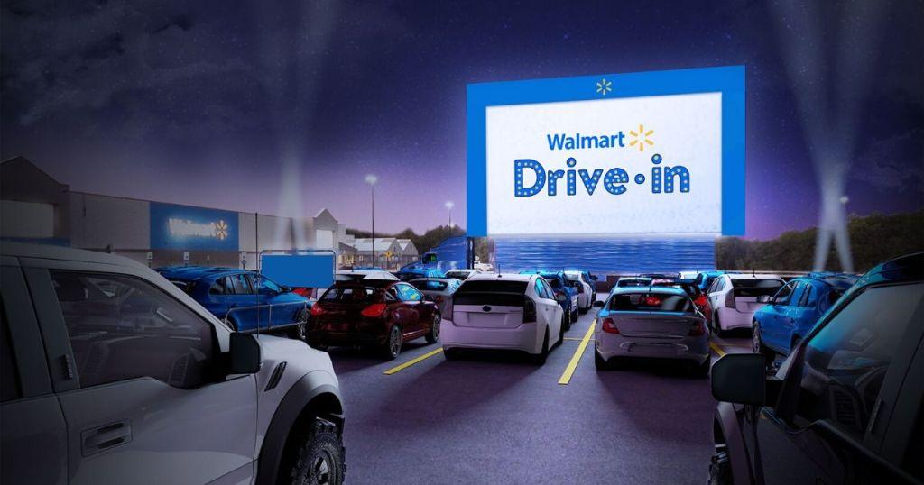 drive in movie theater in walmart parking lot