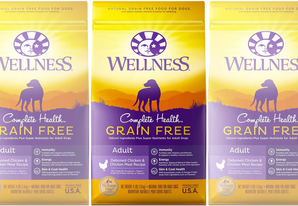 Wellness Complete Health Natural Grain-Free Chicken Dry Dog Food 24 lb Bag