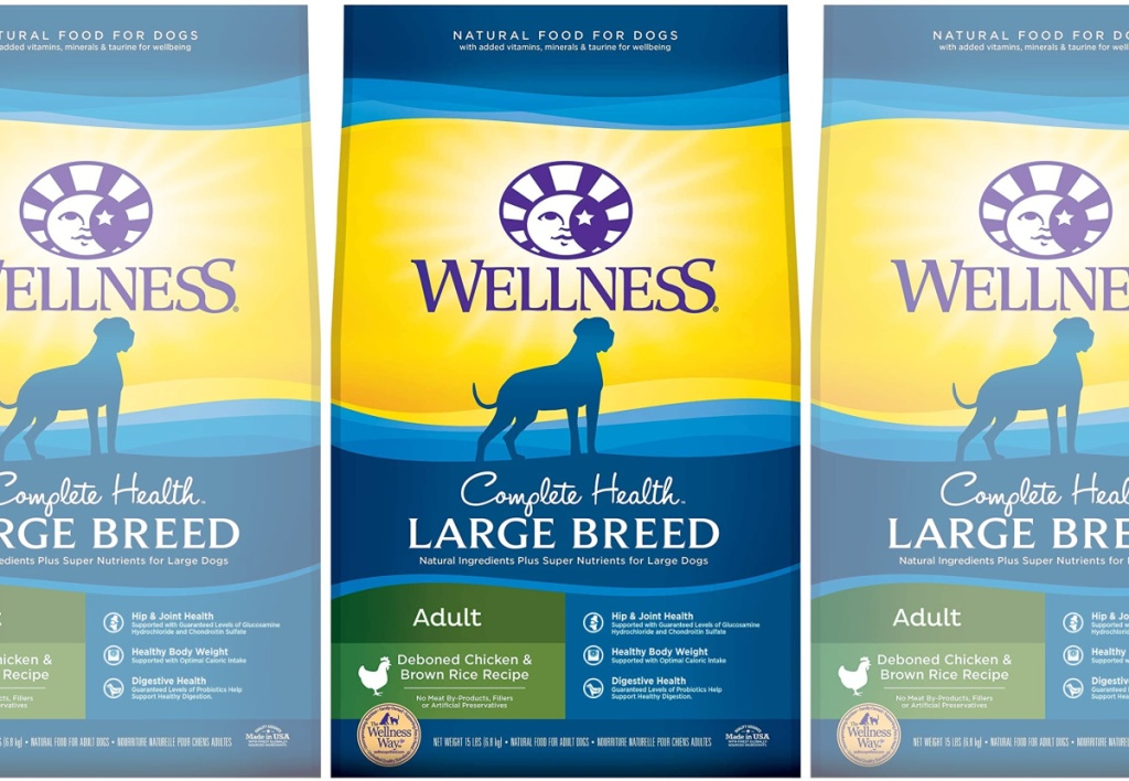 Wellness Complete Health Natural Large Breed Chicken & Rice Dry Dog Food 30 lb Bag