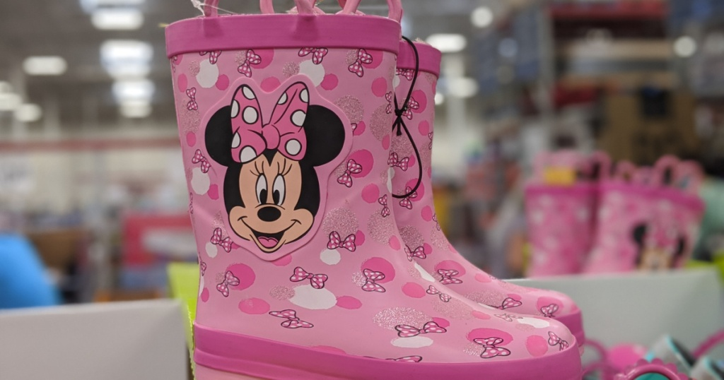 kids Minnie Mouse rain boots
